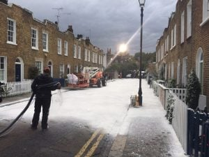 Quality Street 's snow in Camden. Pic: Jodi Moore