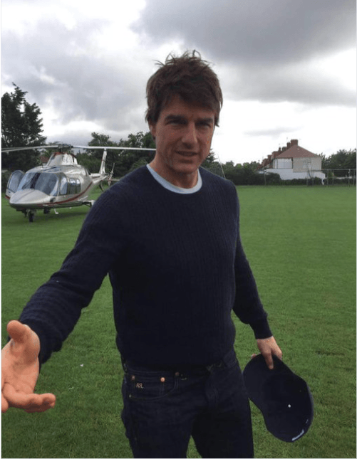 Tom Cruise takes it outside in Merton