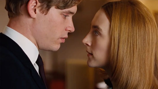 A photograph showing Chesil beach scenes were shot in London – according to location agency FilmFixer, filming took place in Lambeth's Territorial Army Centre, Lewisham's Broadway Theatre, and the former Central St Martins studios.
