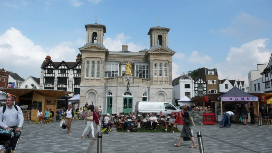 Kingston ancient marketplace and Guildhall
